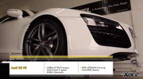 2014 Audi R8 Full XPEL STEALTH matte finish film wrap