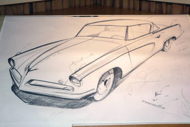 Rendering of  '53 Studebaker Starliner Coupe