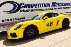 Competition Motorsport's Porsche Cayman GT4 on Forgeline One Piece Forged Monoblock VX1R Wheels