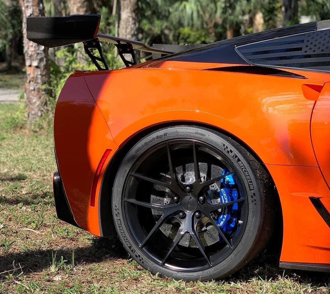 2019 Chevrolet Corvette ZR1 | Matt's Orange C7 Corvette ZR1 on Forgeline One Piece Forged Monoblock VX1 Wheels