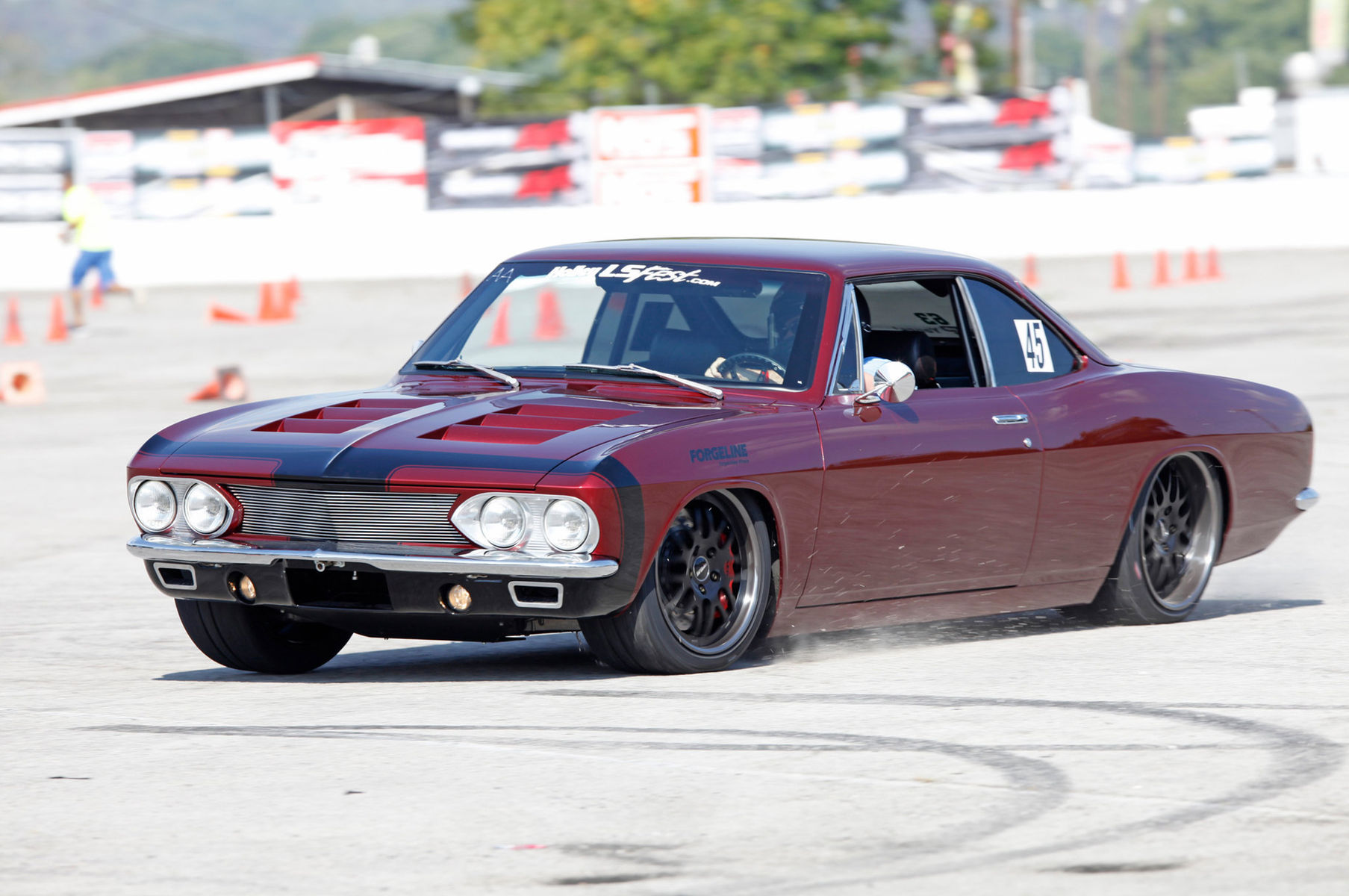 1966 Chevrolet Corvair | JB Granger's Corvair on Forgeline DE3P Wheels - On The Track