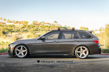 2016 BMW  | 2016 BMW 328d M Sports Wagon Fitted With 20 Inch BD-21's in Silver w/ Chrome SS Lip