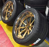 Forgeline RB3C Concave Wheels in Tinted Gold Transparent with Optional Exposed Hardware