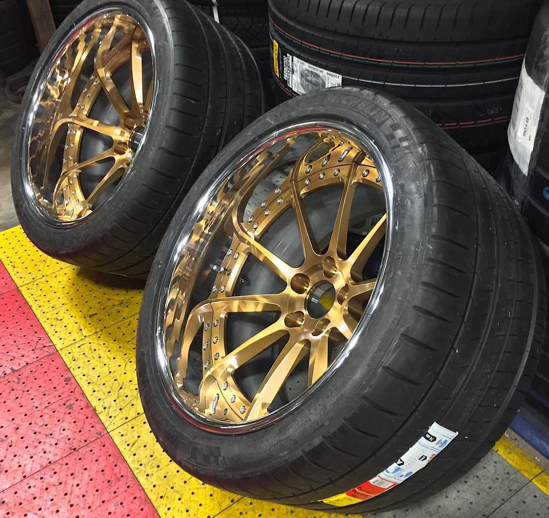 | Forgeline RB3C Concave Wheels in Tinted Gold Transparent with Optional Exposed Hardware