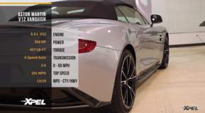 Aston Martin V12 Vanquish Clear Bra Protection Film