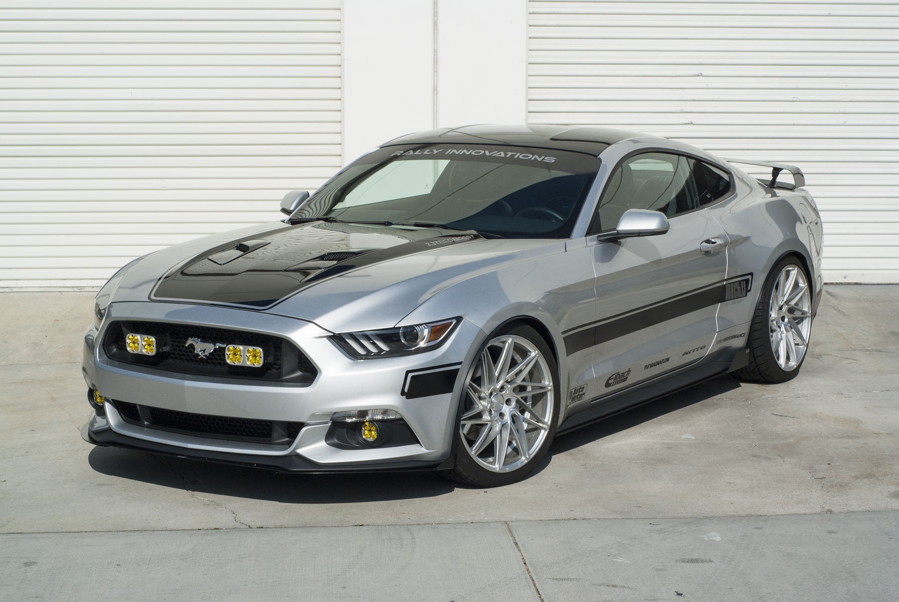 Ford Mustang | Front Shot with Light Conversion and Splitters