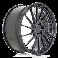 "ADV.1 ADV15R 22"" 3-piece wheels (blue faces and gloss black lips)"