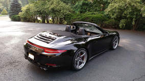 991 Porsche Carrera 911 4S Cabriolet on Forgeline CF3C-SL Wheels - Rear Angled Shot