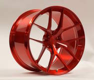 Forgeline One Piece Forged Monoblock VX1 in Transparent Red