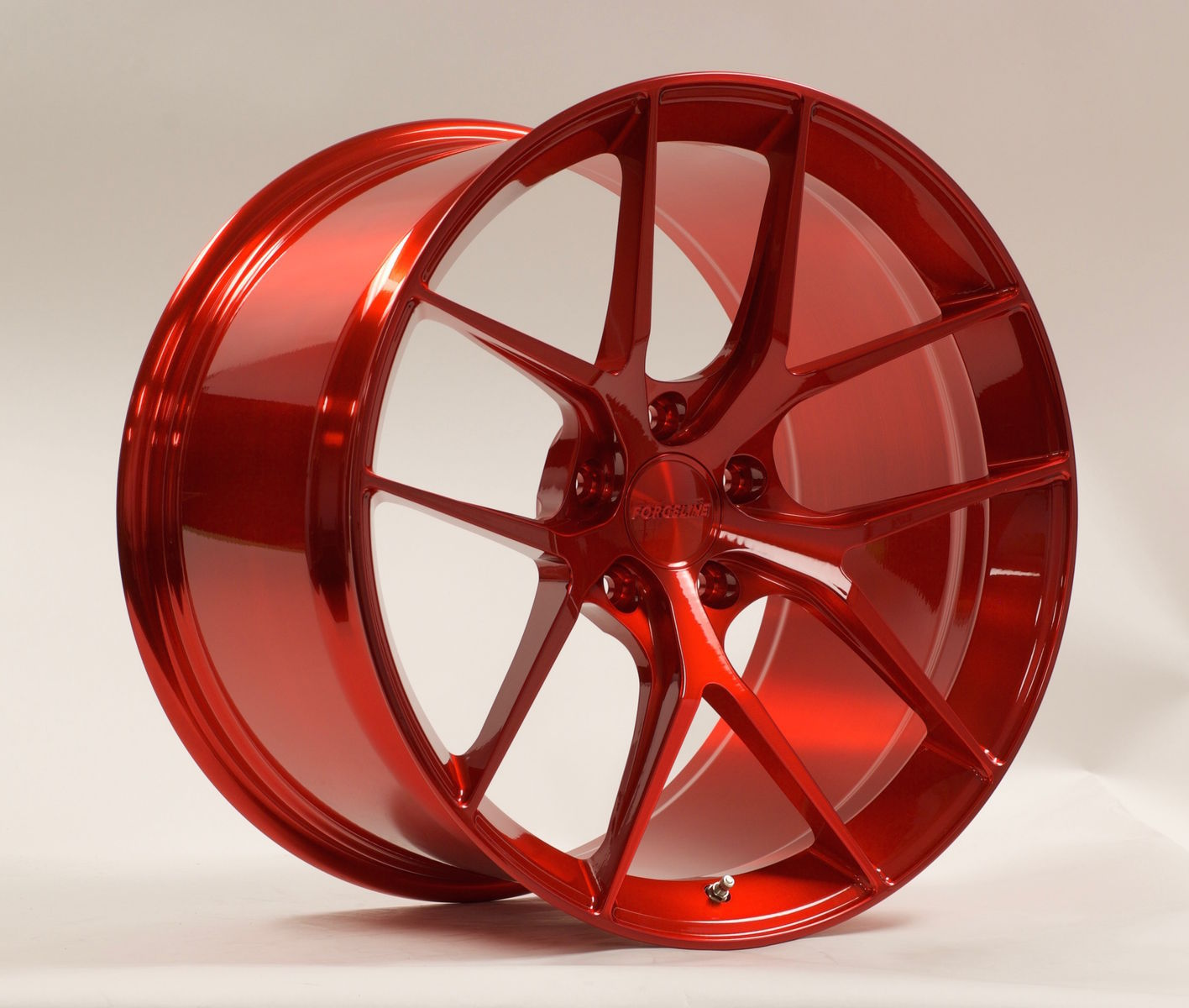 | Forgeline One Piece Forged Monoblock VX1 in Transparent Red