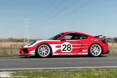 "SP Motorsports' Porsche Cayman GT4 ""Shop Car"" on Forgeline GA1R Open Lug Wheels"