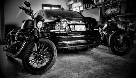2008 BMW 1 Series | 2008 BMW 135i, 2013 Harley 1200 Nightster, 2008 Honda CBR600RR
