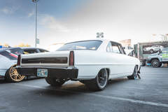 Gerald Goad's 1400HP 1966 Chevy Nova at the 2018 SEMA Show on Forgeline RB3C Wheels