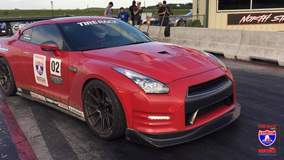 Chariots of Palm Beach Nissan GT-R on Forgeline GA1R Open Lug Wheels