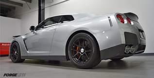 Steve Zimmerman's 1100whp 8-sec Nissan GT-R on Forgeline One Piece Forged Monoblock GA1R Wheels