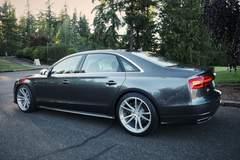 H&R 2016 Audi A8L - Driver's Side