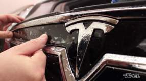 2013 Tesla Model S gets paint protection film clear bra