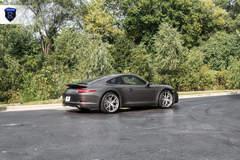Charcoal Porsche 911 Carrera - Rear Angled Shot