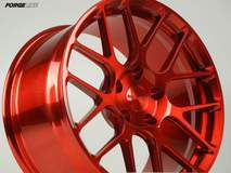 Forgeline One Piece Forged Monoblock SE1 in Transparent Red