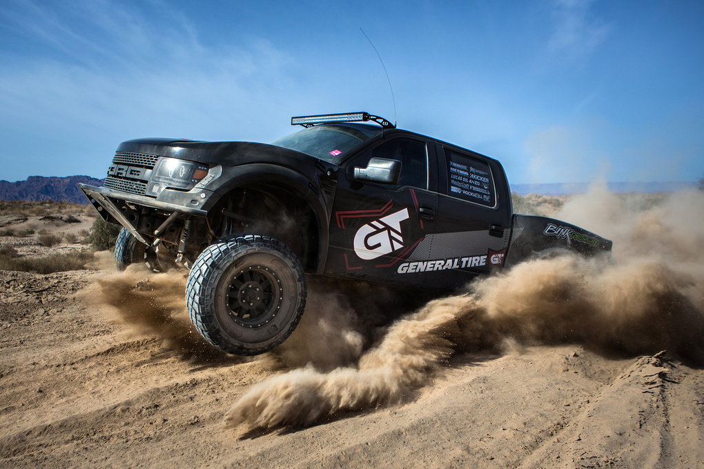 Ford    Plowing through the sand!