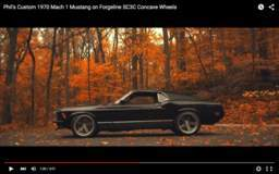 Phil's 1970 Mach 1 Mustang on Forgeline SC3C Concave Wheels