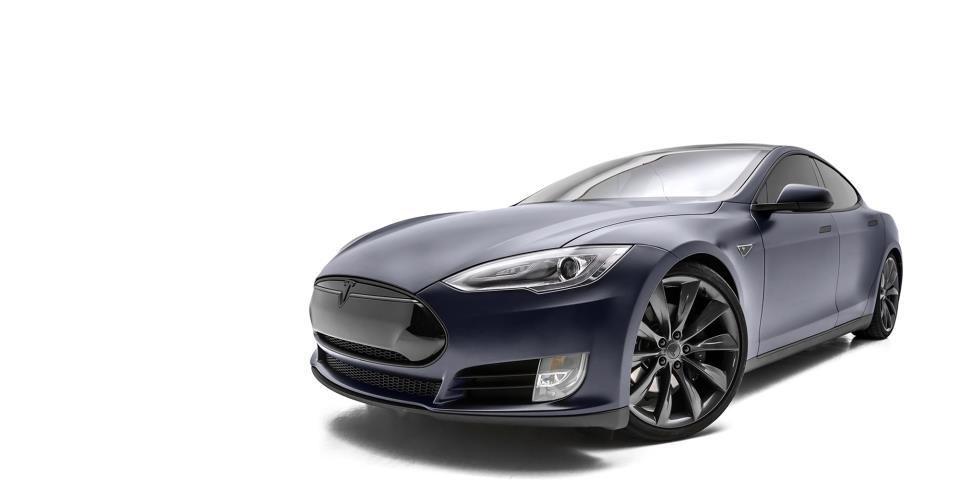 2014 Tesla Model S   Tesla Model S Full STEALTH Matte Wrap