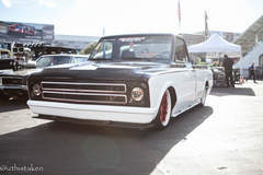 "Speedtech's ""Evil Oreo"" Chevy C-10 Pickup Truck on Forgeline GT3C Concave Wheels - Front Shot"