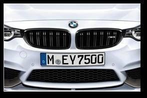 BMW M Performance Black Kidney Grilles