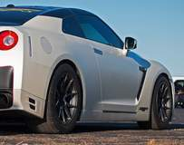 Rob's 1200whp Nissan GT-R on Forgeline One Piece Forged Monoblock GA1R Open Lug Wheels