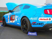 Saroja Raman's Grabber Blue S197 Mustang GT on Forgeline GA3 Wheels