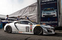 RealTime Racing Acura NSX GT on Forgeline One Piece Forged Monoblock GE1R Wheels