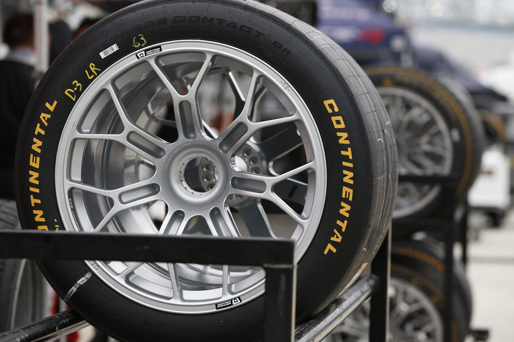 | Racking the Continental Tires during the Rolex 24