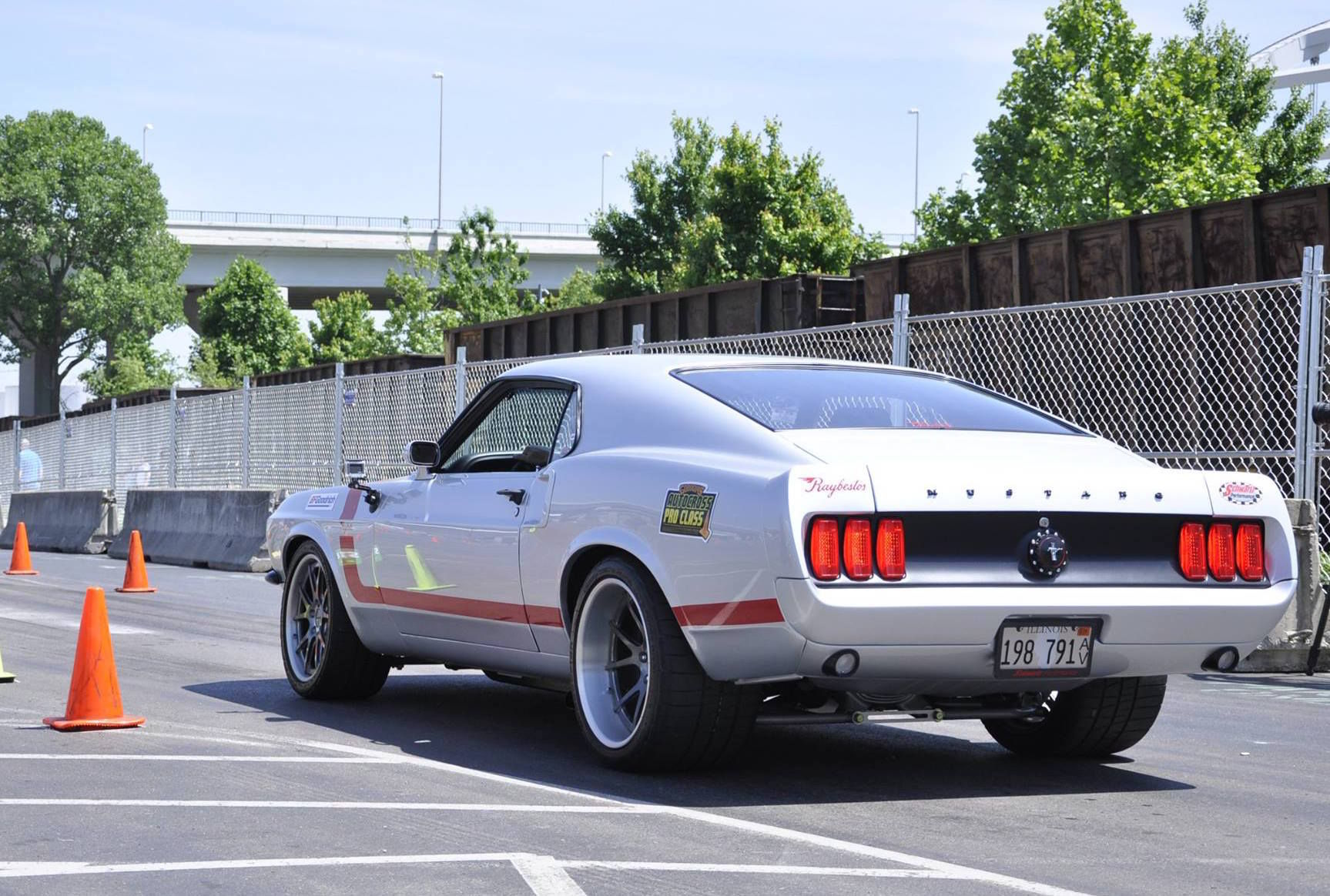 1969 Ford Mustang | Raybestos 1969 Mustang on Forgeline GA3C Concave Wheels