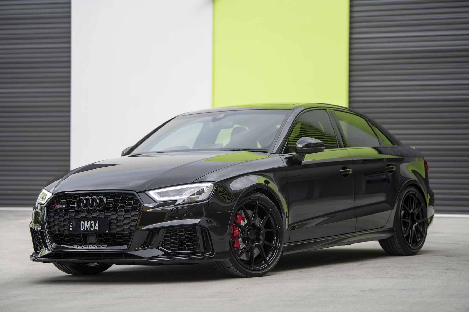 2018 Audi RS 3 | Dave Dessent's Audi RS3 on Forgeline One Piece Forged Monoblock GA1R Open Lug Wheels