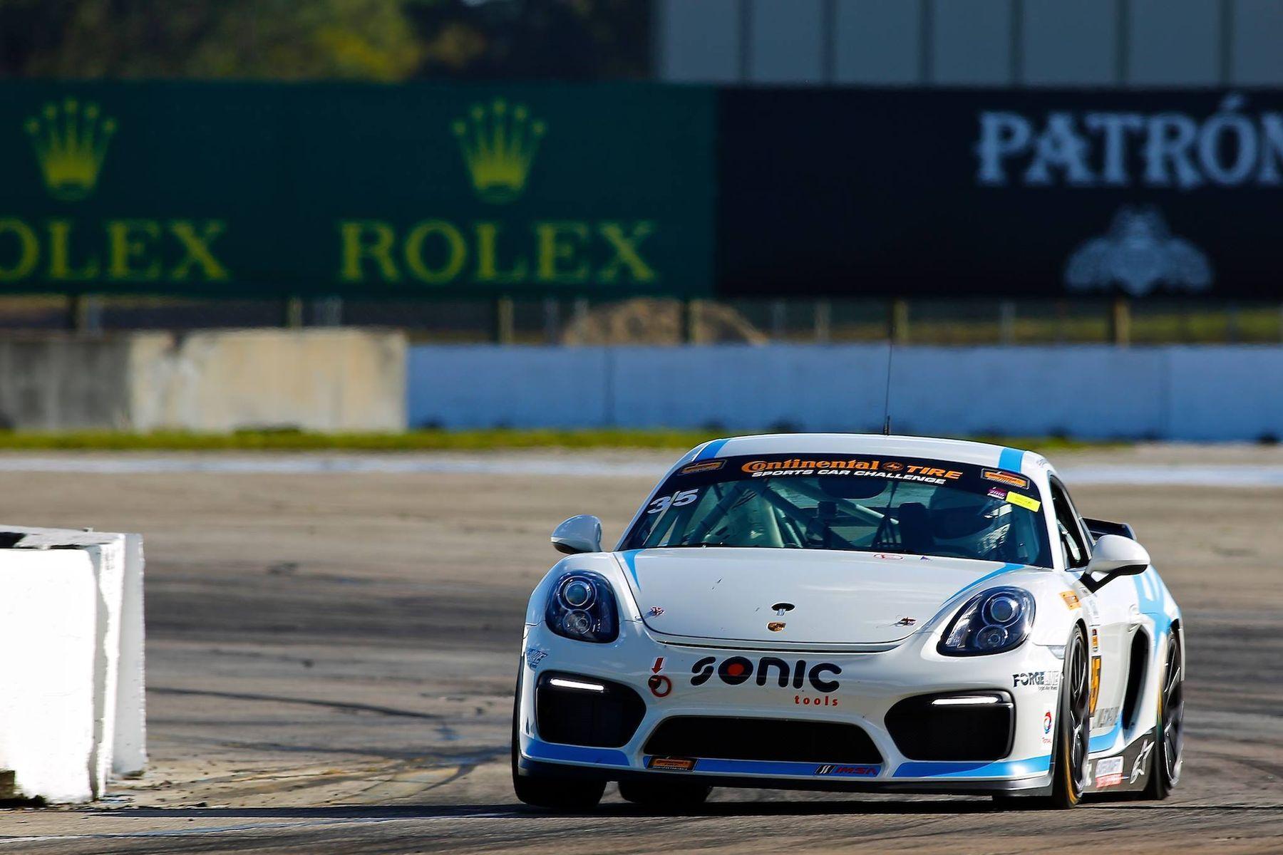 2016 Porsche Cayman | CJ Wilson Racing's #35 GS Class Porsche Cayman Clubsport on Forgeline One PIece Forged Monoblock GS1R Wheels