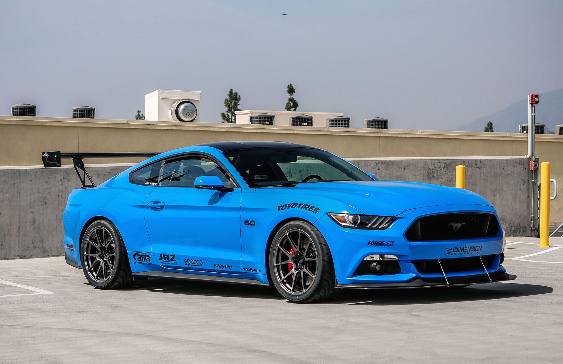 2015 Ford Mustang | Michael Chen's S550 Ford Mustang GT on Forgeline One Piece Forged Monoblock GA1R Open Lug Wheels