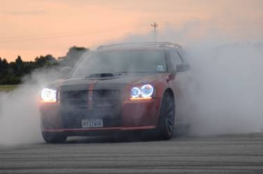 Dodge Magnum with ORACLE HALOS