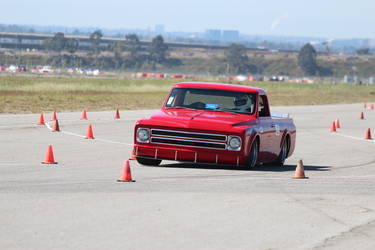 1970 Chevrolet C-10 | No Limits Engineering Chevy C10 'Hellboy' - Track Shot