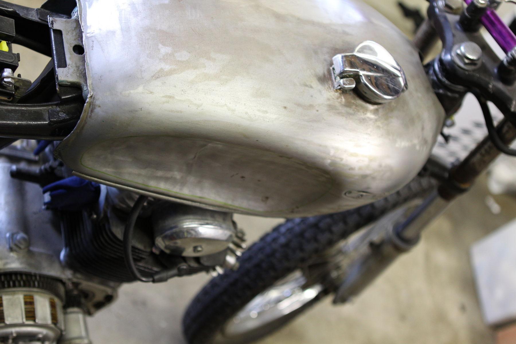 1973 Honda CB350G   Tank prep