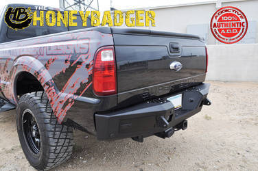 1999 - UP FORD F250/350 HONEYBADGER REAR BUMPER W/ BACKUP SENSOR CUTOUT  R097301280103