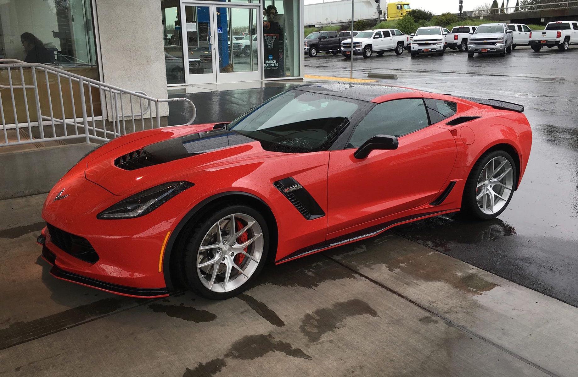 2016 Chevrolet Corvette Z06 | Red Chevrolet C7 Corvette Z06 on Forgeline One Piece Forged Monoblock VX1 Wheels