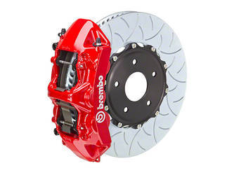 "Brembo 6-piston monoblock brakes and 15"" rotors"