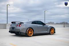 Gray Nissan GTR - Passenger Side