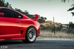Renaissance Red Toyota MKIV Supra - CCW D110 3 Piece Forged Wheels