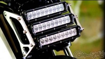 ComposiMo TriPleX Light Brackets featuring Rigid Industries SR2 Hyper Driving Lights