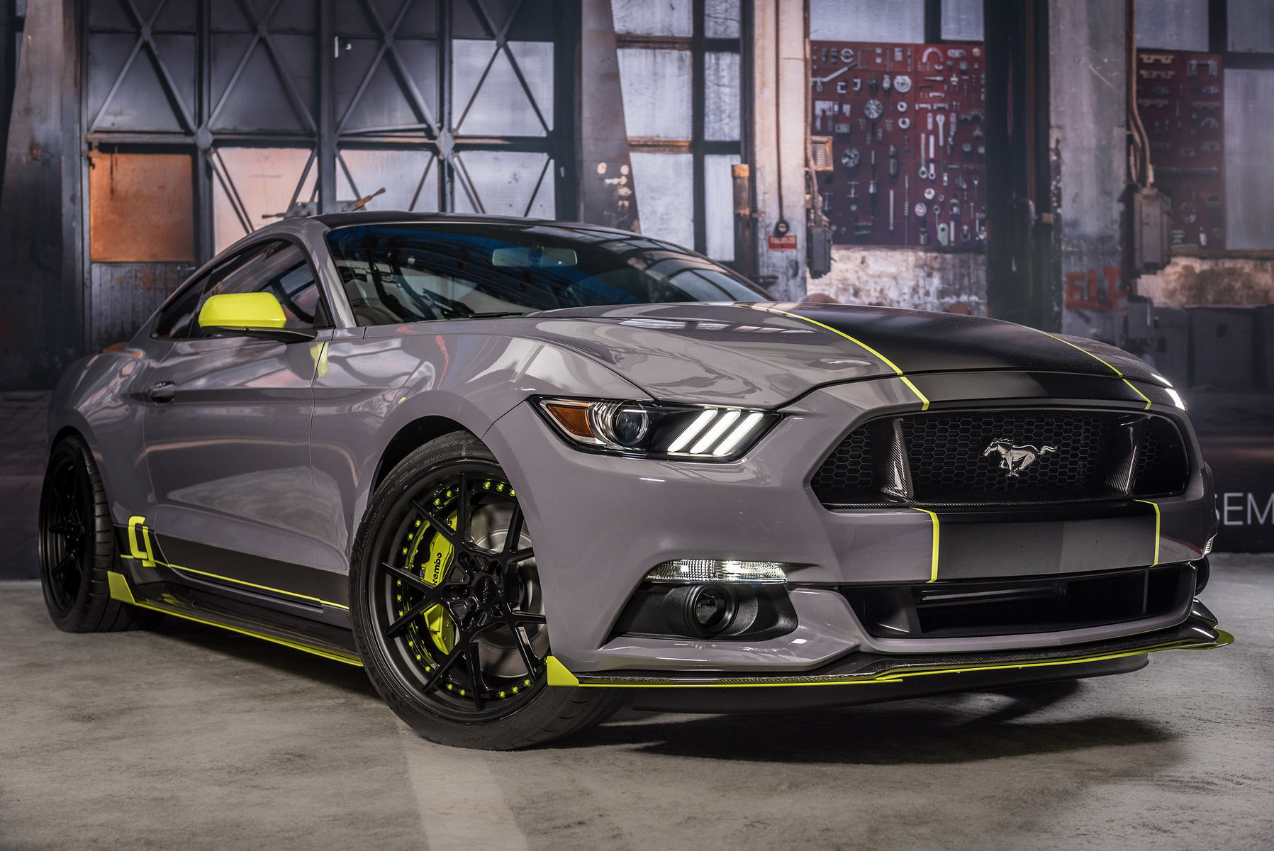 2017 Ford Mustang Fastback by CJ Pony Parts Inc Final Build Front