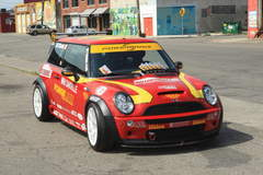 Ian Rae's Mini Cooper RSR on Forgeline One Piece Forged Monoblock GS1R Wheels