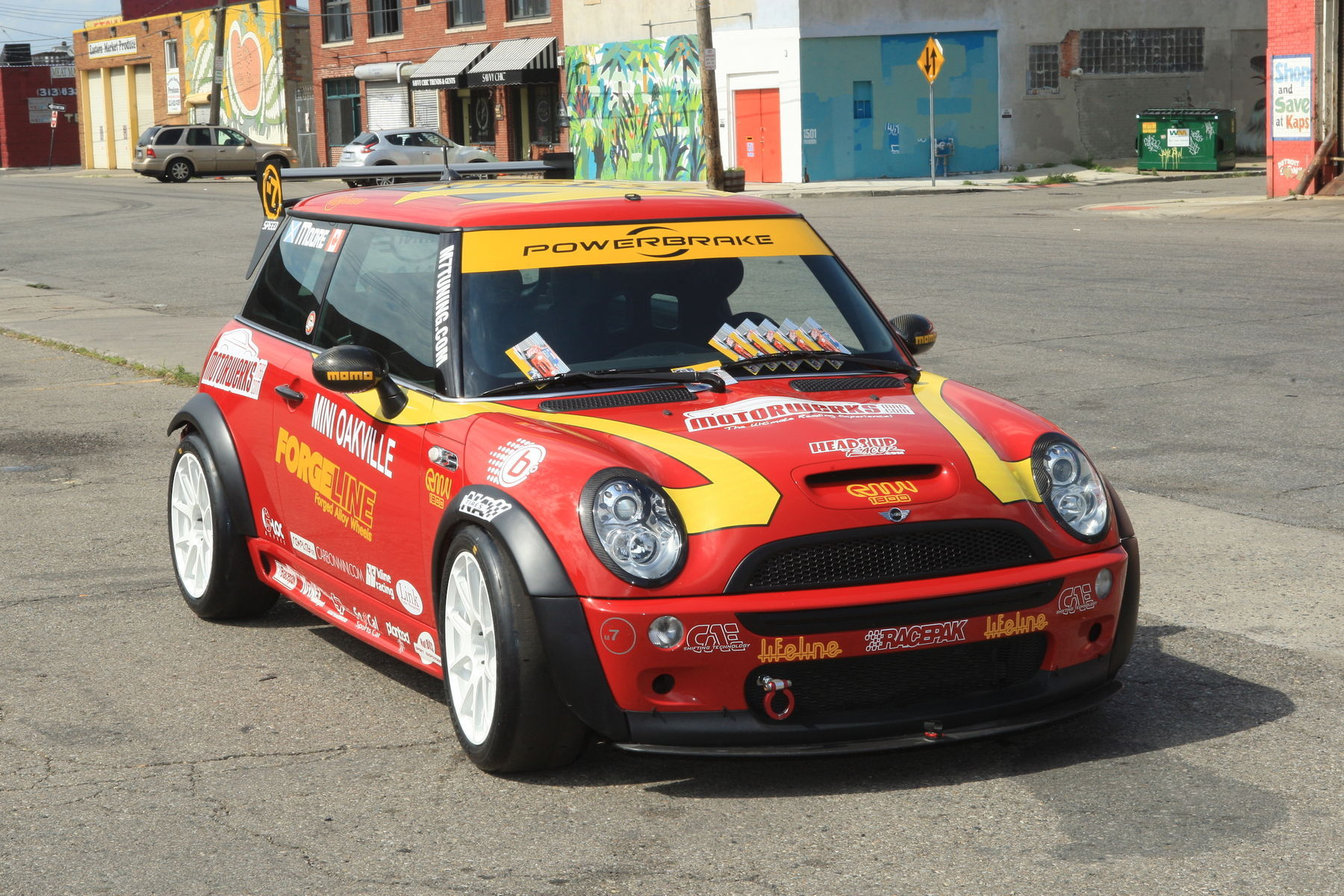 | Ian Rae's Mini Cooper RSR on Forgeline One Piece Forged Monoblock GS1R Wheels