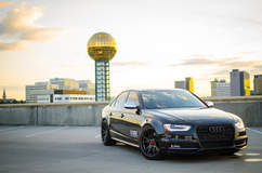 "Audi S4 on 20"" Vorsteiner V-FF 103 Wheels - Front Profile Shot"