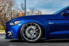Derek Ninowski's Bagged 2015 S550 Ford Mustang GT on Forgeline One Piece Forged Monoblock GA1R Wheels